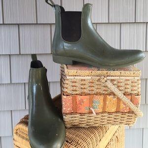 J crew rain boots, size 10.